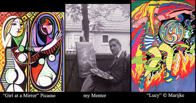psychedelic paintings Picasso and Lucy