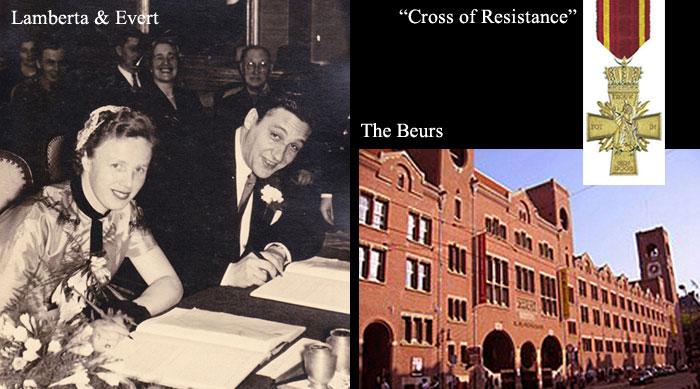 Lamberta and Evert, Cross of Resistance, The Beurs