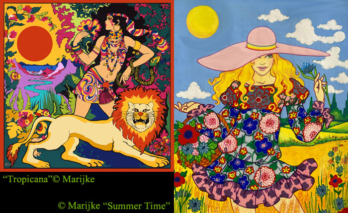 psychedelic painting Tropicana & Summertime