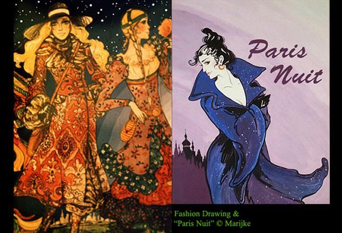 Fashion Drawing & Paris Nuit
