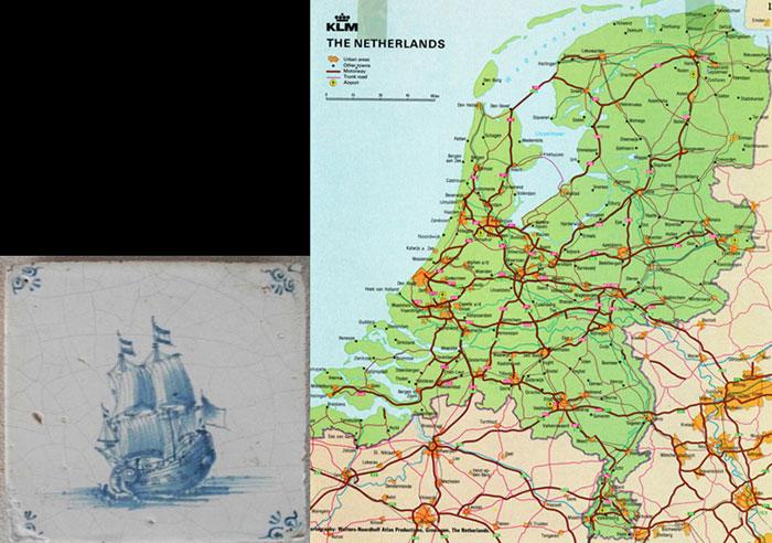 Nederland & Easr India Company Tile