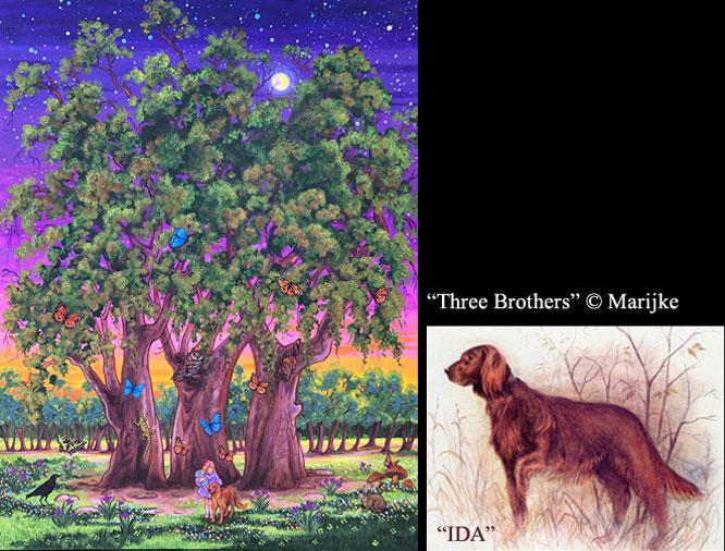painting Three Brothers and IDA