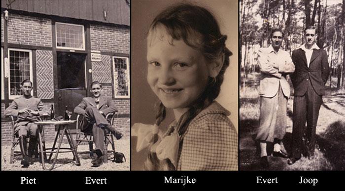 Piet & Evert, Marijke, Evert and Joop