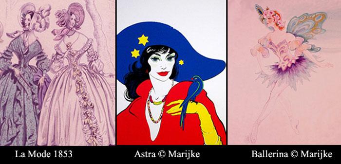 paintings La Mode 1853 Astra Ballerina