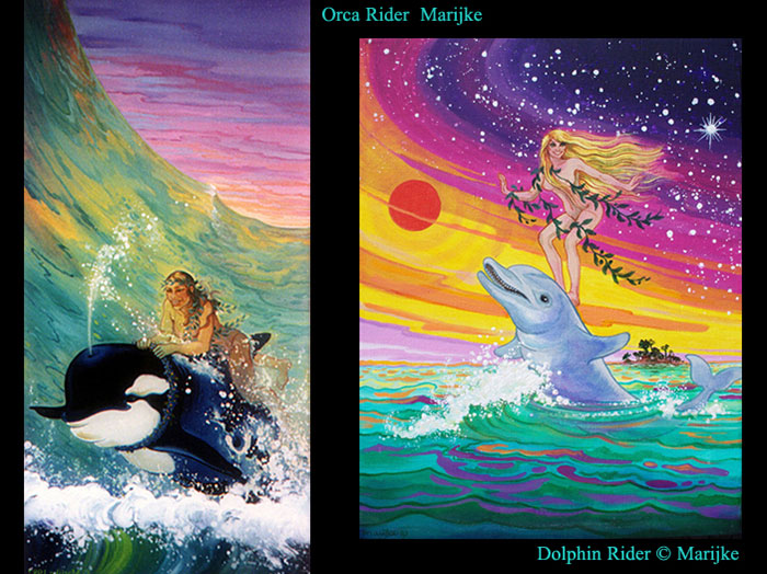 Orca Rider & Dolphin Rider