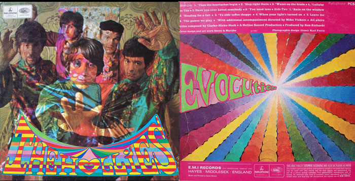 The Hollies Front & Back cover