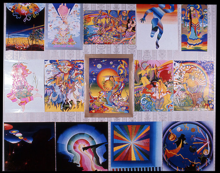 Apple psychedelic posters